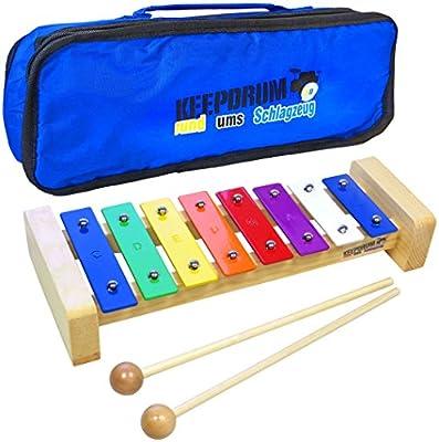 Keepdrum kgs Pro–Xilófono infantil de madera con bolsa