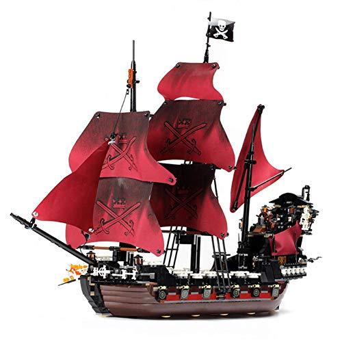 Große Film-Serie Gallebi Pirate Anne Queen Rache schwarzen Bart Puzzle-Zauber Einfügen roten Boot Baustein Modell ()