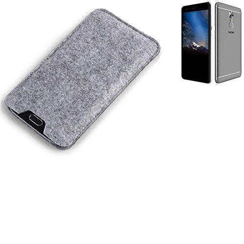 K-S-Trade Filz Schutz Hülle für Phicomm Energy 4s Schutzhülle Filztasche Filz Tasche Case Sleeve Handyhülle Filzhülle grau