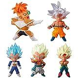 db Dragon Ball Super UDM Burst 34 Recoom Goku Vegeta Gotenks Burdock Gashapon PVC Figurine Key Chain Model Figures Dolls (1 Set (5pcs))
