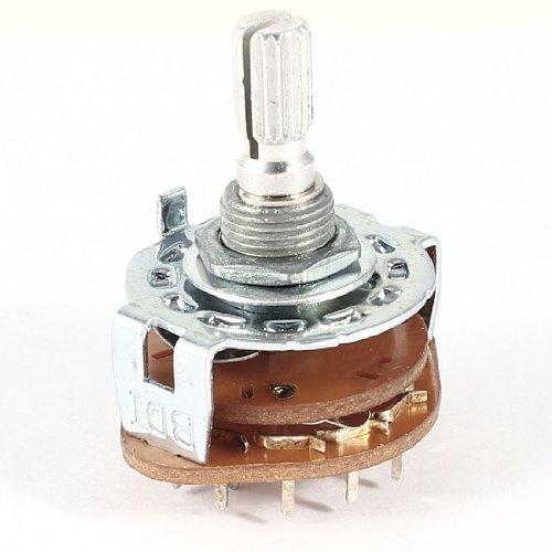 Preisvergleich Produktbild Uxcell a13122500ux0391–Monte 2Wafer Schalter des Panels 2P6T 2-Pole Position-schwenkbar 6