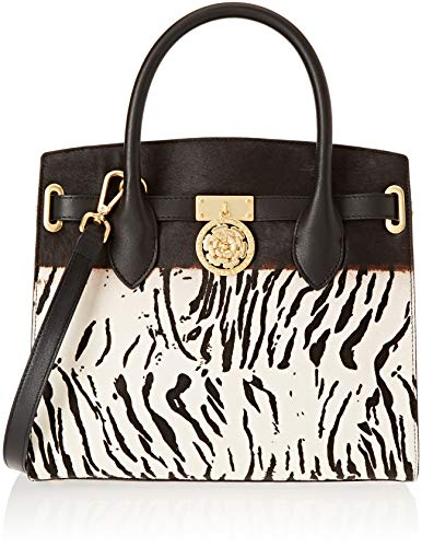 Guess Damen Peony Shopper, Mehrfarbig (Zebra Natural/Zna), 30x28x15 Centimeters Guess Zebra