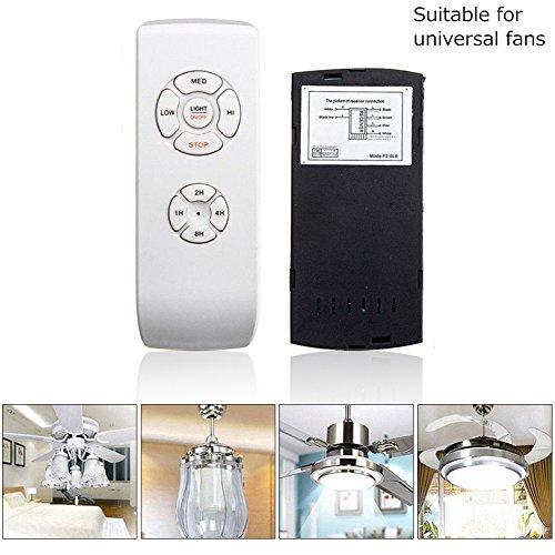 Kit de mando a distancia universal para lámpara de ventilador de techo, receptor de tiempo inalámbrico...
