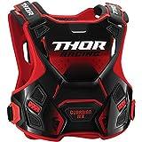 Thor Guardian MX Kinder Motocross Brustpanzer Protektor Cross Enduro Offroad Quad Atv Rot Schwarz Grün Weiß (S/M, Rot)