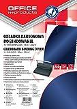 Office Products 20232515–11carátulas para encuadernar de cartón, A4, 250g/m², brillante, 100unidades), color azul