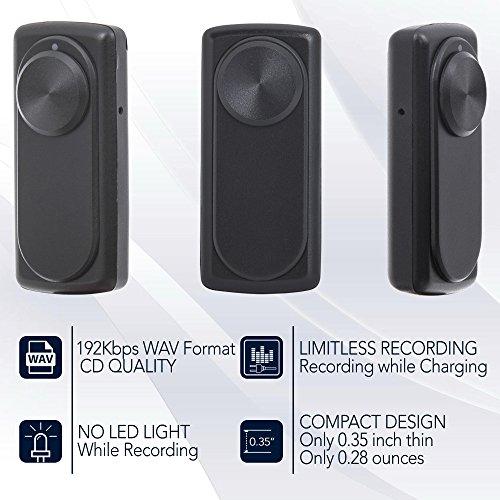 Mini Diktiergerät, Stimmenaktivierung, 20 Stunden Akku, 90 Stunden Aufnahmekapazität, 8GB Aufnahmegerät, USB-Anschluss, aTTo Digital Recorder
