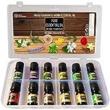 Parag Fragrances Pure Essential Oil (12Pc Launching Offer Pack) Lavender, Tea Tree, Eucalyptus, Pippermint, Rosemary, Lemongr
