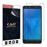 J und D Kompatibel für 8er Set Alcatel A3 XL Gris Bildschirm Schutzfolie, [Nicht Ganze Deckung] Premium HD-Clear Schutzfolie für Alcatel A3 XL Gris