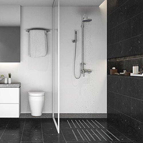 HYGGENDAHL 16x Premium Anti-Rutsch-Streifen für Dusche, Whirlpool und Badewanne | Selbstklebend, rutschfest und fast unsichtbar | Hygienische Alternative zur Antirutschmatte | mit Positionier-Schablone - 3
