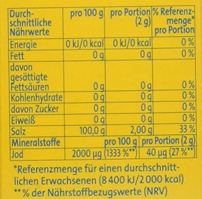 Bad Reichenhaller Marken JodSalz Reines Alpensalz aus Natursole, 500 g von Bad Reichenhaller auf Gewürze Shop