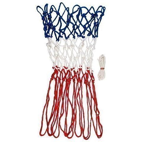 Nuevo anillo baloncesto 360 repuesto Tri color redes red aro de reemplazo par 4 mm