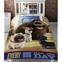 Vida secreta de mascotas solo Panel funda nórdica cama, diseño con perros cada perro tiene su día.