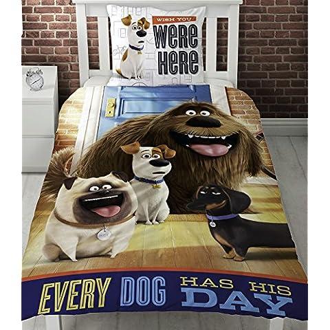 Secret Life of Pets Hounds copripiumino singolo Set ogni cane ha il giorno.