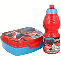 Joy Toy 786976 Miraculous Jausenbox + Trinkflasche, bunt preisvergleich bei kinderzimmerdekopreise.eu