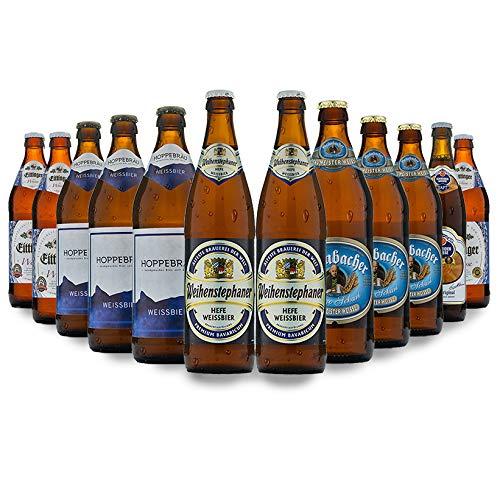 12x BAYERISCHES WEIßBIER / Weißbier-Set / Bier / Biertasting-Set / Verkostungsset /Geschenk zu Weihnachten, Geburtstagen, Vatertag / Ideal für den Ehemann, Papa, oder Freund / Die perfekte Geschenkidee für Bierliebhaber / Drinkify Biersets