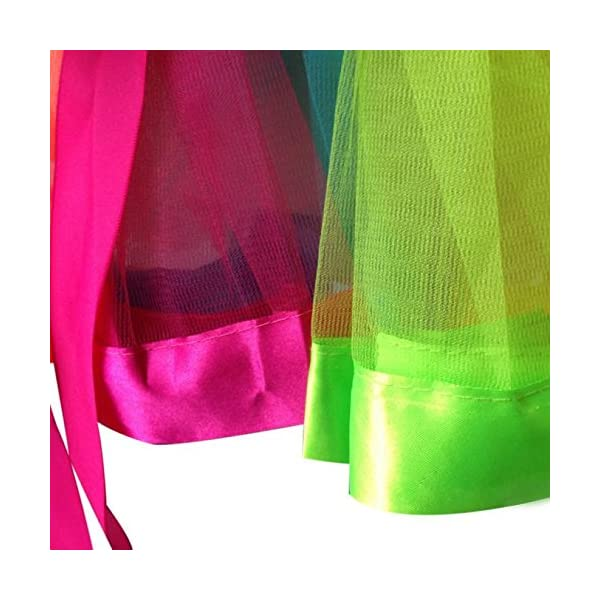 PinkLu Falda De Malla De Arco Iris De Siete Colores NiñAs NiñOs Enagua Arco Iris Pettiskirt Falda Bowknot Vestido Tutu… 4