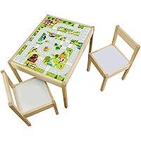 Preisvergleich für Möbelaufkleber Igelchenwelt - passend für IKEA LÄTT Kindertisch - Kinderzimmer Spieltisch - Möbel nicht inklusive
