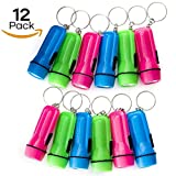 JRing 12Pack LED Flashlight Mini Keychain Torch, Key Chain Flashlights, Torch Light,Mini Pocket Torches for Kids Fun