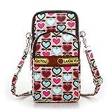 Hergon Armtasche,Modische Muster Zipper Phone Tasche, Armbänder Schultertasche Umhängetasche als...