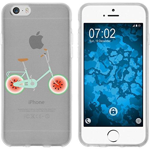 PhoneNatic Case für Apple iPhone 6s / 6 Silikon-Hülle Bike M3 Case iPhone 6s / 6 Tasche + 2 Schutzfolien Motiv 3