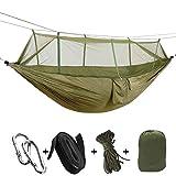 Parachute Tissu moustiquaire au bois dormant hamac 2 personne Morsures anti-moustiques de couchage Lit d'extérieur Chasse Camping Hammock LUFA