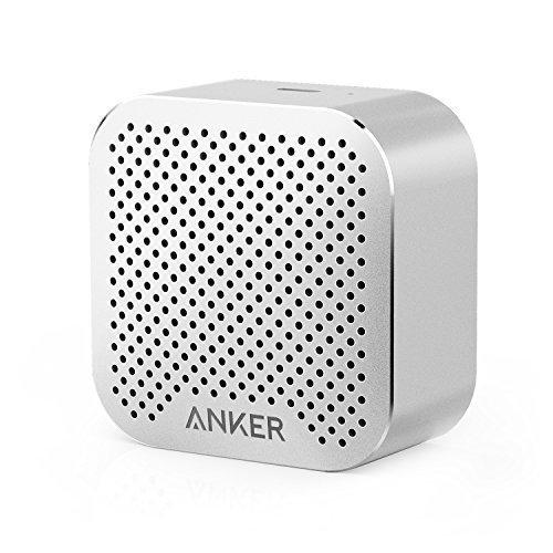 Anker SoundCore nano Super Kleiner Bluetooth Lautsprecher Wireless Speaker mit Großen Sound und Mikrofon für iPhone, iPad, Samsung, Nexus, HTC, Laptops und weitere (Silbrig)