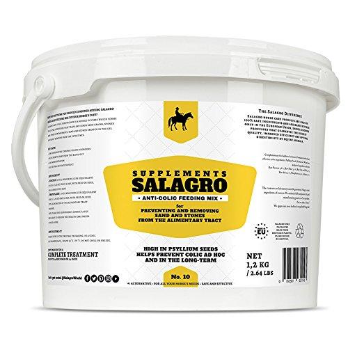 Anti-Koliken Mix-Futter für Pferde und Ponys - Ergänzung zum Verhindern und Entfernen von Sand und Steinen aus dem Verdauungstrakt, 1,2 kg - 2,64 lbs (Sand Bildet)