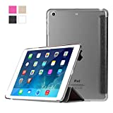 HAWEEL 3-folding Smart Case Clear Back Cover with Holder for iPad mini 3 / 2 / 1(Black)