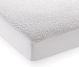 """Bedding King Home Care 100% Dustproof Terry Waterproof Single Bed Mattress Protector for Single Bed (Size: 78""""x36"""")"""