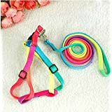 tia-ve (TM) 1 pcs mascotas perro gato conejo arnés nailon ajustable collar Leash