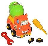 1 Stück: lustiges Auto mit Werkzeug - zum Schrauben - Räder abschrauben - Schraubenzieher + Maulschlüssel - Bauen + Konstruieren - für Kinder / Bausatz für Kleinkinder - erstes Schrauben