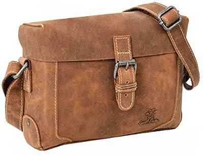 "Gusti Cuir studio ""Hawk"" sac à main sac de soirée sac pour sortir sac de loisir sac en bandoulière homme femme cuir de buffle marron clair 2H75-20-5wp"