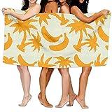 best & Orange Silhouettes Coconut Palm Trees and Banana Print Stylish Beach Towel