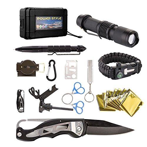 Kit de emergencia de supervivencia 13 en 1, caja de herramientas multiusos...