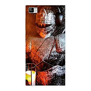 Gorgeous Warrior Knight Print Back Case Cover for Xiaomi Mi3