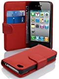 Cadorabo Coque pour Apple iPhone 4 / iPhone 4S / 4G ROUGE CERISE Housse de Protection...