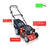 Frisky Fox PLUS 20' 5.5hp Self Propelled Petrol Lawn Mower 4 in 1 Mulching, Cutting, Collecting & Side Discharge Powered By 5.5HP 4-Stoke OHV Engine with Fitted Lawn Striper and 55L Grass Collection Bag