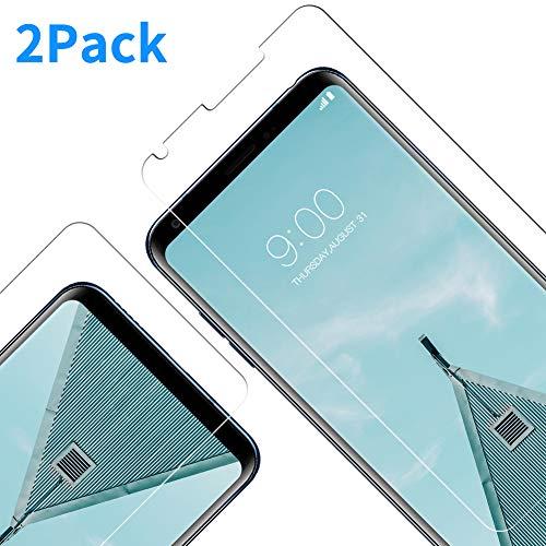 Vkaiy LG V30 Panzerglas Schutzfolie, [2 Stück] Ultra-Klar Glas 9H Härte 3D Touch Kompatibel Anti-Kratzen, Anti-Öl, Anti-Bläschen für LG V30