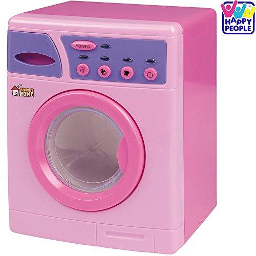Preisvergleich Produktbild Waschmaschine mit Licht und Sound, 25 x 19 cm, pink und lila: Kinder Spielzeug Puppen Spiel Haushaltsgerät Zubehör Spielküche