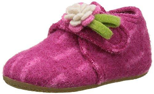 Living Kitzbühel Babyklett Blume, Chaussures Marche Bébé Fille Rose - Pink (Magenta 360)