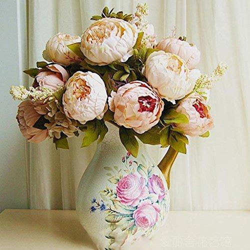 lsv-8 Pretty Artificial Flower Peony Faux Floral bouquet