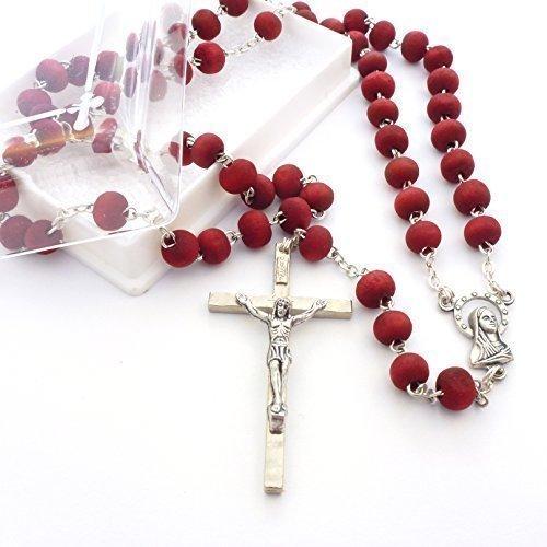 Rosenkranz Duftenden (Rose duftende rote Holz Rosenkranz Perlen Halskette in Geschenkbox)