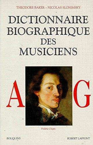 Dictionnaire biographique des musiciens, A à G