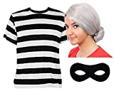 ADULTS GRANNY BURGLAR COSTUME PERFECT FOR SCHOOL BOOK WEEK AND WORLD BOOK DAY FOR WOMEN AND MEN IN SIZE XLARGE UK 16-18
