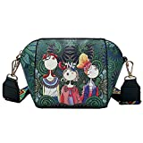 LMRYJQ Mode Damen Handtasche Wald Casual Umhängetasche Headset Tasche Shell Tasche (Green)