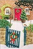 Posterlounge Acrylglasbild 100 x 150 cm: Snowy Front Garden von Linda Benton/Bridgeman Images - Wandbild, Acryl Glasbild, Druck auf Acryl Glas Bild