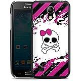 Samsung Galaxy S4 mini Hülle Schutz Hard Case Cover Punk Rock Prinzessin Pink Totenkopf