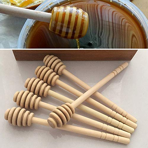 Honey Spoon - 2pc Practical Long Handle Wood Spoon Mixing Stick Dipper Coffee Milk Tea - Lotus Sticks Packs Molds Olive Candy Holder Individually Stir Honey Metal Spoon Bulk Wrapped Lollipop M Baker-olive