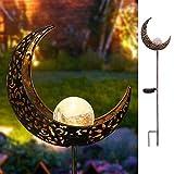 Garten-Solarleuchten im Freien,Takemeuro Metall Blume LED Stake dekorative Lichter für Terrasse, Weg, Hof, Rasen