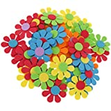 Futurekart Mixed Foam Flower Shapes Kids Children Decoration Crafting 50 in 1 Set (Random Colour)